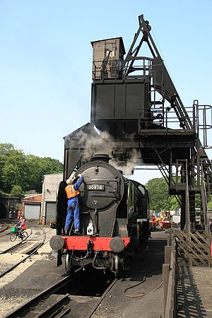 Coaling tower - Image: Repton on the coaling stage, Grosmont. geograph.org.uk 1198262