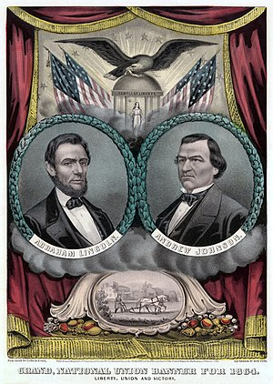 National Union Party (United States) - Image: Republican presidential ticket 1864b