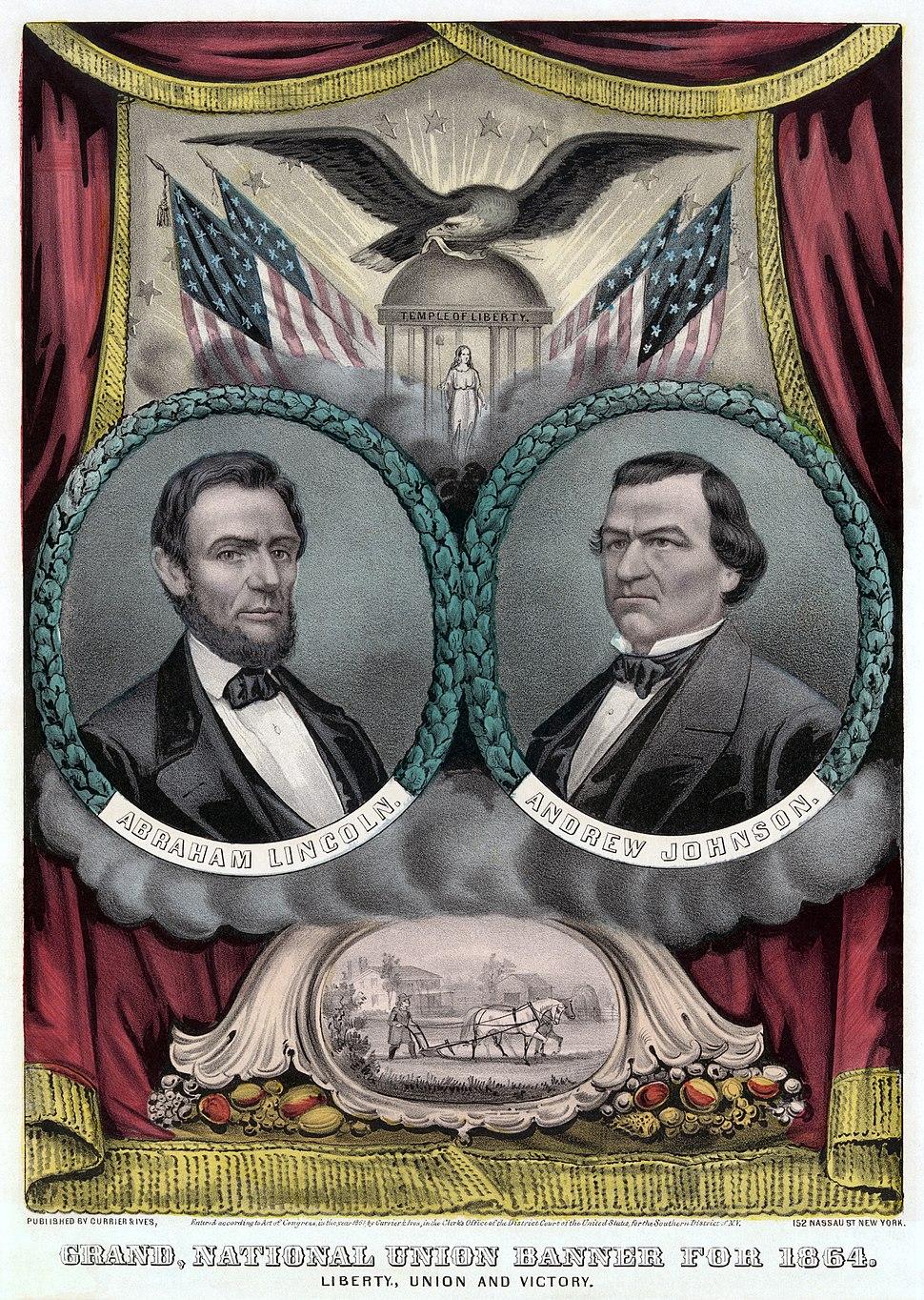 Republican presidential ticket 1864b