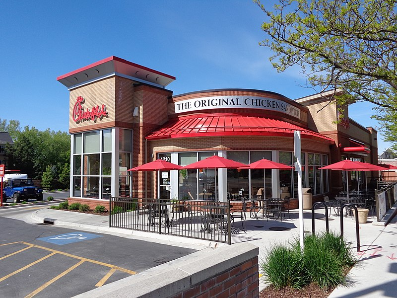 The restaurant chain's lease in Reading, England, has not been renewed A Chick-Fil-A location in Salt Lake City
