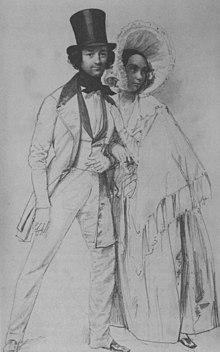 Amalie und Paul Taglioni, Skizze von Franz Krüger (vor 1839) (Quelle: Wikimedia)
