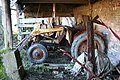 Retired tractor in derelict farm buildings - geograph.org.uk - 679869.jpg