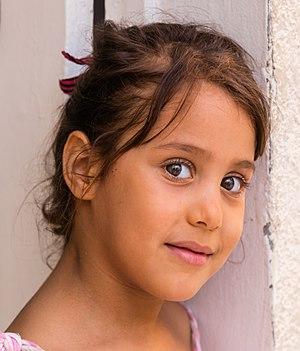 Portrait of a young girl, Mahdia, Tunisia