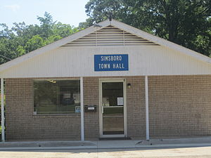 Simsboro, Louisiana - Simsboro Town Hall