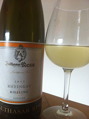 "German wine classification - A Riesling from the Rheingau using the ""Feinherb"" (off dry) designation."