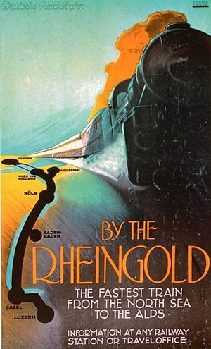 Rheingold (train) - Image: Rheingold, 1928, Friese