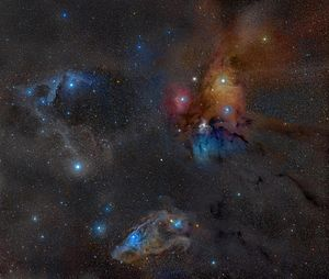 Ophiuchus - Photo from Rogelio Bernal Andreo of the Rho Ophiuchi molecular cloud complex.