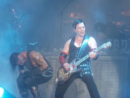Rammstein performing at the Gold Coast Big Day Out in 2011 RichardZK.JPG