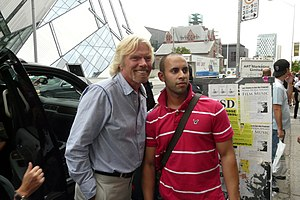 Virgin Millionaire Richard Branson doing a qui...