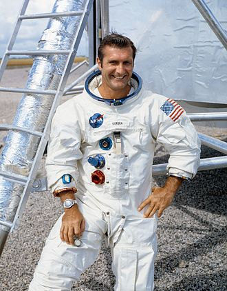 Richard F. Gordon Jr. - Gordon poses in his Apollo 12 space suit