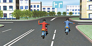 Основные моменты правил дорожного движения для велосипедов || Знак велосипедиста поворот направо