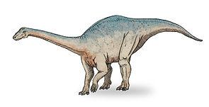 Lebendrekonstruktion von Riojasaurus incertus