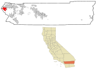 Riverside County California Incorporated and Unincorporated areas Corona Highlighted.svg