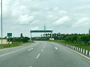 National Highway 75 (India) - NH 75 near Hassan, Karnataka