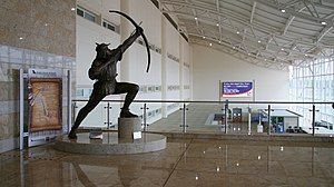 Doncaster Sheffield Airport - A statue of the airport's namesake Robin Hood.