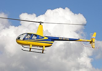Robinson R44 - An R44 in flight over Russia