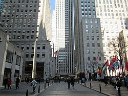 Rockefeller Plaza, a private street in Rockefeller Center