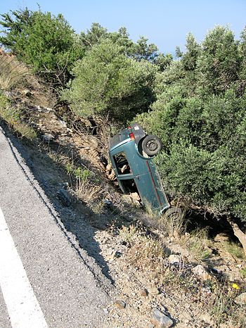 Accident near Rodakino, Finikas, Nomos Rethymn...