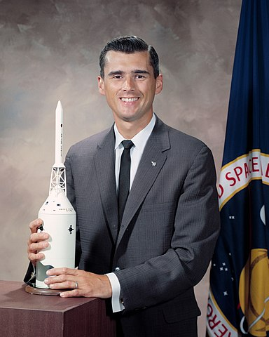 Apollo 1 astronaut candidate Roger B. Chaffee, NASA photo (10 September 1964)Source: Wikipedia (NASA site unavailable January 2019) 384px-RogerChaffee.1964.ws.jpg