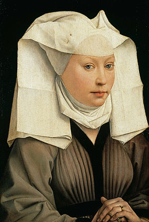 Rogier van der Weyden -  Portrait of a Woman with a Winged Bonnet