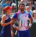Roland Garros 20140531 Alize Cornet & Jonathan Eysseric 2.jpg