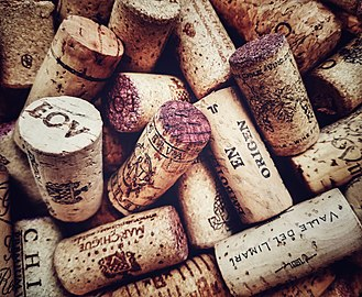 Bung - Cork stoppers from wine bottles.
