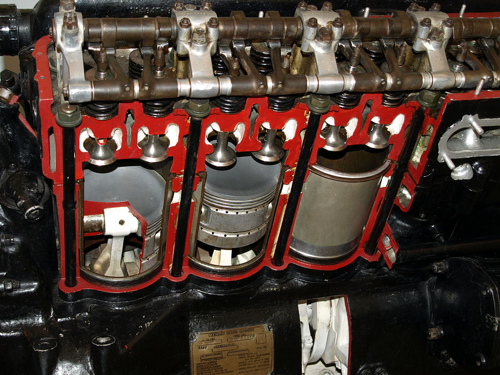 1952 Ford Six Cylinder Engine : File rolls royce merlin cylinders g wikimedia commons