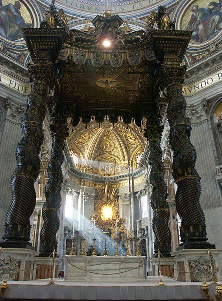 File:Rom, Vatikan, Petersdom, Baldachin und Cathedra Petri (Bernini).jpg