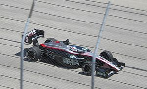 Mario Romancini - Romancini on his way to his first Indy Lights victory at the Milwaukee Mile in 2009
