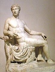 Hermes siedzący na baranie