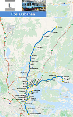 roslagsbanan karta Roslagsbanan   Wikipedia roslagsbanan karta