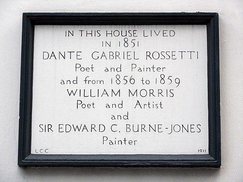 Rossetti morris burne jones plaque