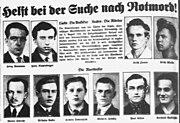 Rotmord - Fahndungsplakat der Berliner Polizei (1933)