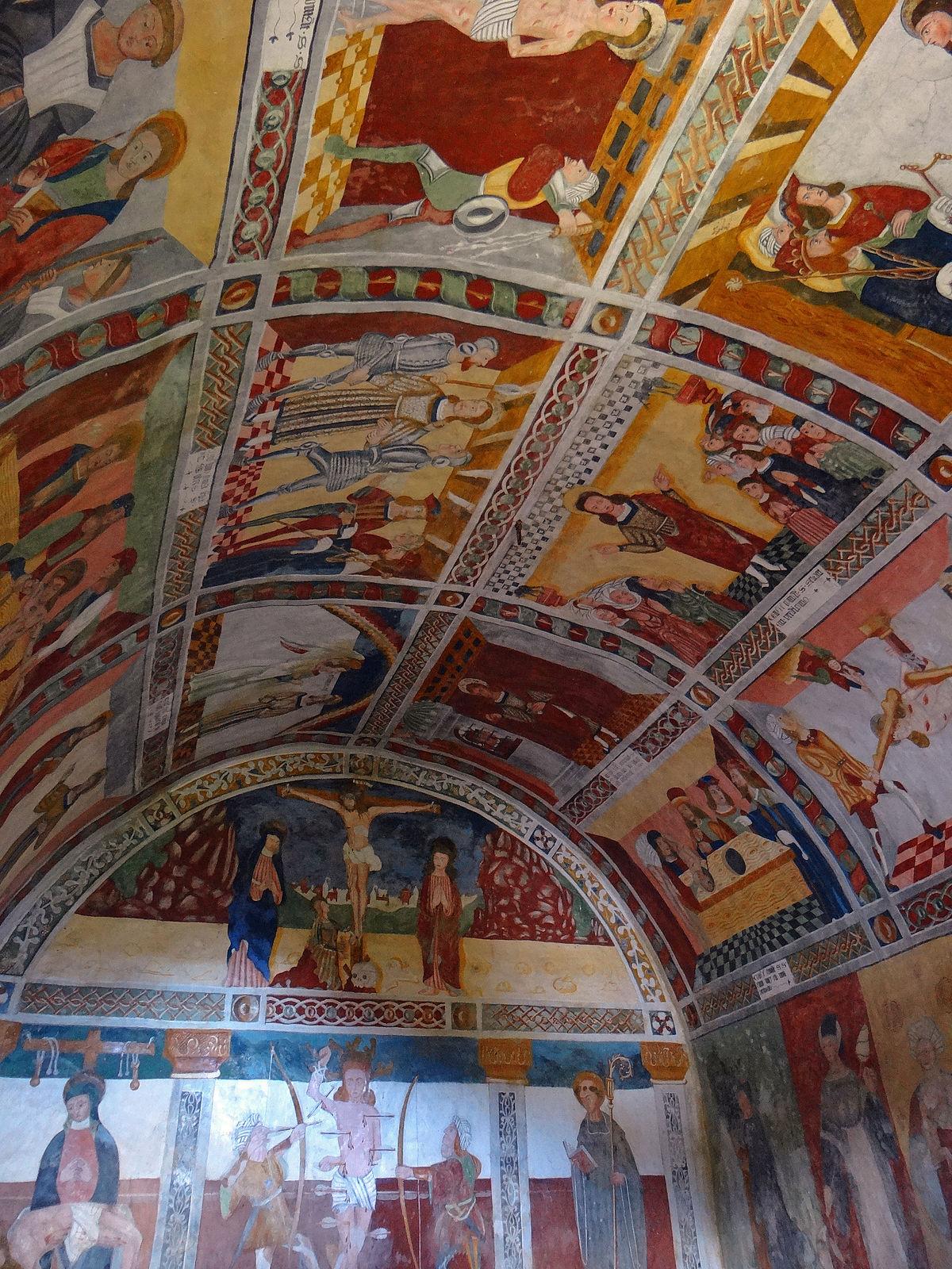 Chapelle saint s bastien de roubion wikip dia for Les differents types de peintures murales