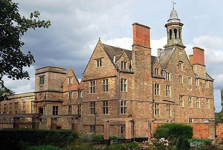 Rufford Abbey Rufford Hall from SW.JPG