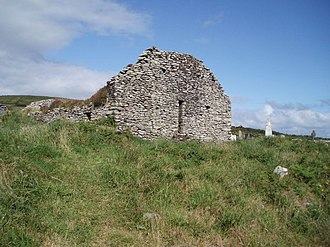 Ballywiheen - View of the church and burial ground.