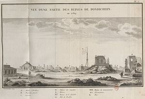 George Pigot, 1st Baron Pigot - Image: Ruines de Pondichery en 1769