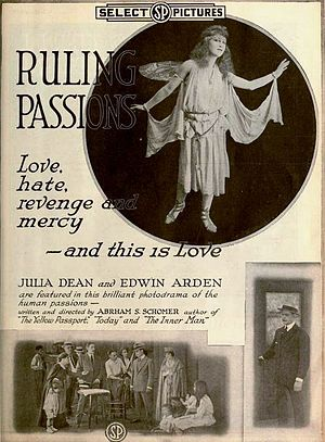 The Yellow Passport - Image: Ruling Passions (1918) Ad 2
