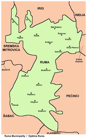 mapa ruma srbija Opština Ruma — Vikipedija, slobodna enciklopedija mapa ruma srbija