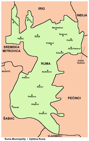 mapa ruma srbija Opština Ruma   Wikipedia mapa ruma srbija