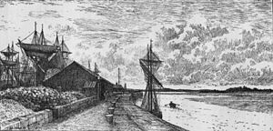Port of Runcorn - River Mersey and the Port of Runcorn in the late 18th century
