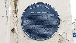 Runcorn ferry plaque