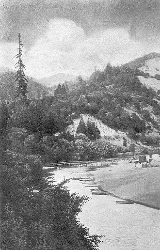 Rio Nido, California - Russian River at Rio Nido, circa 1910s