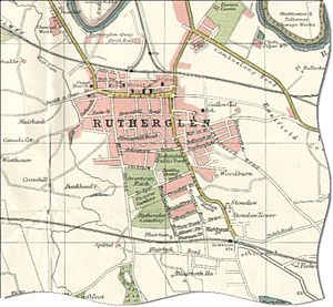 Rutherglen - Map of Rutherglen in 1923