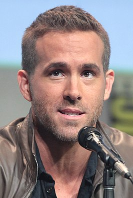 Reynolds tijdens de San Diego Comic-Con International in 2015