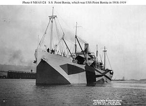 S.S. Point Bonita (American freighter, 1918) On a trial trip on 22 June 1918 near the yard of her builder, the Albina Engine & Machine Works, Portland, Oregon. This ship was in commission as USS Point Bonita (ID # 3496) from October 1918 to April 1919