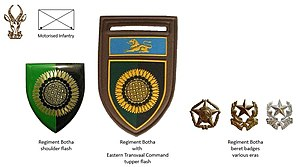 Regiment Botha - SADF era Regiment Botha insignia