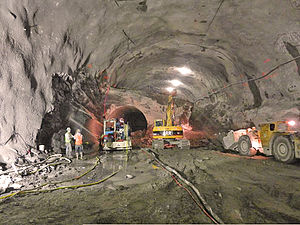 History of the Second Avenue Subway - The 72nd Street station cavern in January 2012