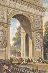 1814, entree van geallieerde troepen in Parijs