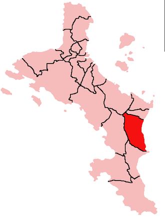 Au Cap - Location of Au Cap District on Mahé Island, Seychelles